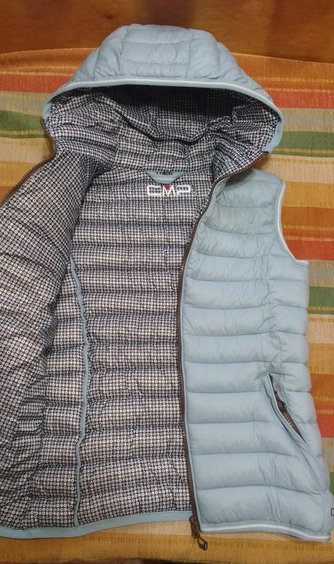 Жилет cmp thinsulate голубая с серым жилетка xxs - Фото 3