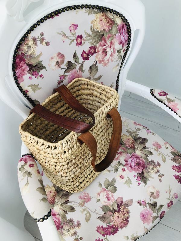 Соломенная плетёная сумка шоппер - Фото 4