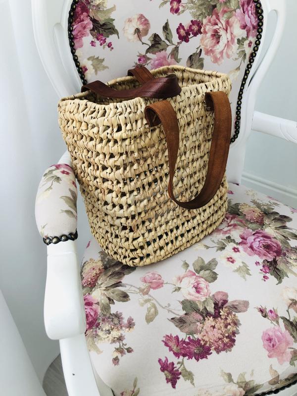 Соломенная плетёная сумка шоппер - Фото 6