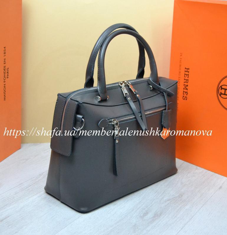 Женская кожаная сумка в стиле furla фурла - Фото 2