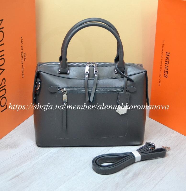 Женская кожаная сумка в стиле furla фурла - Фото 3