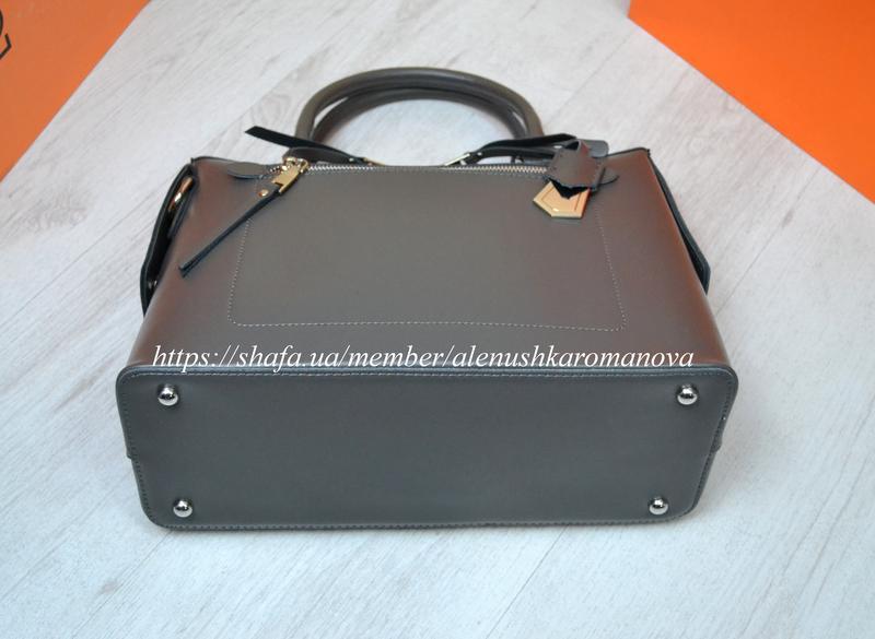 Женская кожаная сумка в стиле furla фурла - Фото 5