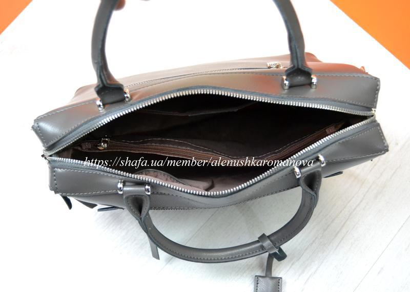 Женская кожаная сумка в стиле furla фурла - Фото 6