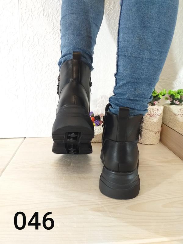 Модные чёрные ботинки - Фото 2