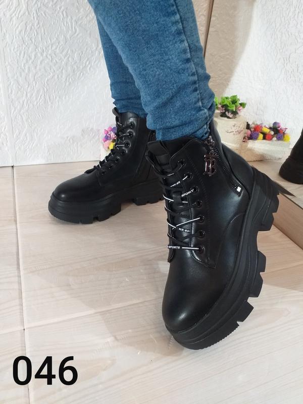 Модные чёрные ботинки - Фото 3