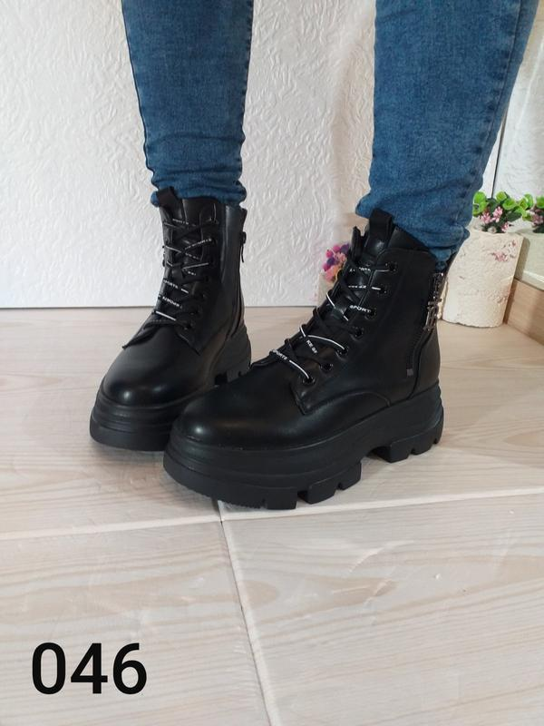 Модные чёрные ботинки - Фото 4