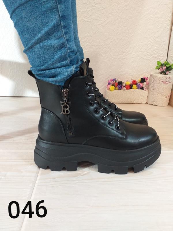 Модные чёрные ботинки - Фото 5