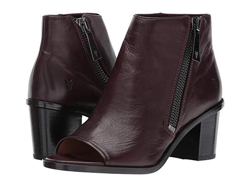 Женские ботинки с открытым носком frye brielle zip peep bootie...