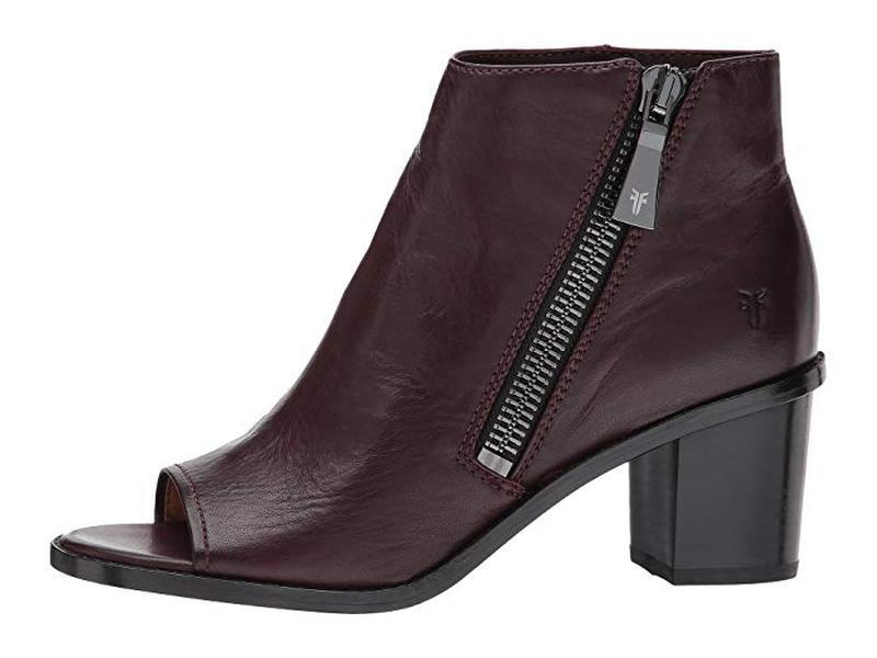 Женские ботинки с открытым носком frye brielle zip peep bootie... - Фото 2