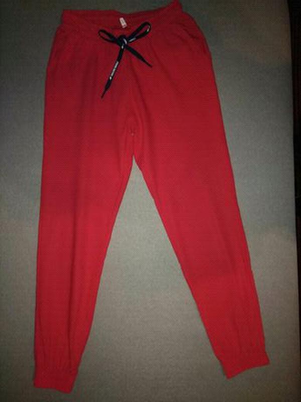 Брюки штаны женские джоггеры Материал: льон