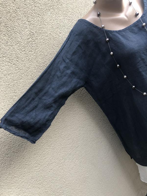 Блуза реглан,рубаха лён,туника,платье,этно бохо стиль, - Фото 5