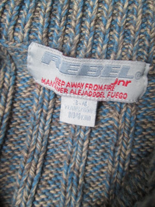 Гольф свитер джемпер primark на 3-4 года 104 см / цвет меланж,... - Фото 4