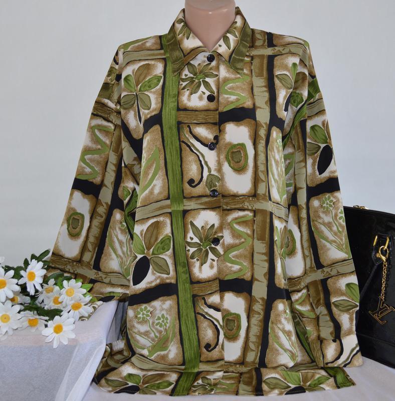 Брендовая блуза roman originals принт цветы