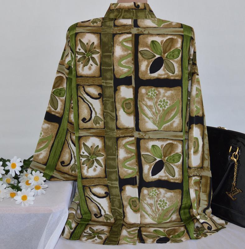 Брендовая блуза roman originals принт цветы - Фото 2