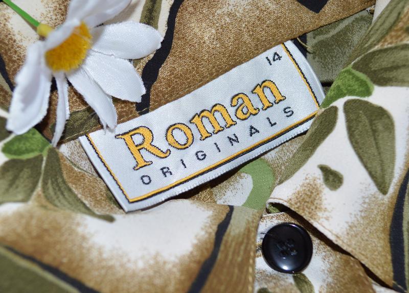 Брендовая блуза roman originals принт цветы - Фото 3