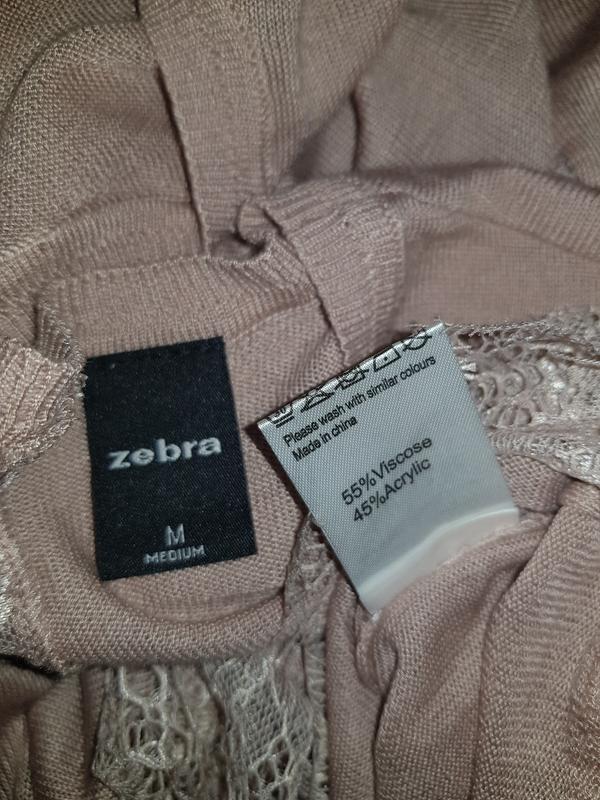 Легкий свитер кофта с кружевом - Фото 5