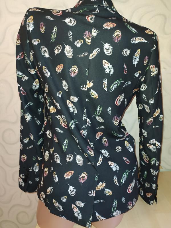 Пиджак жакет в перышки - Фото 2