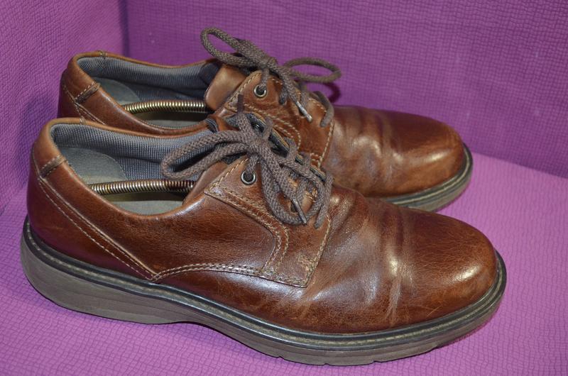 Добротные мужские кожаные туфли clarks - Фото 3