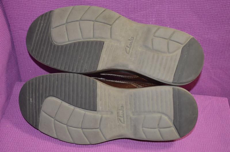 Добротные мужские кожаные туфли clarks - Фото 6
