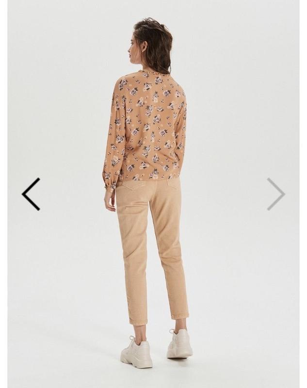 Блузка з v-подібним викотом, рубашка - Фото 4