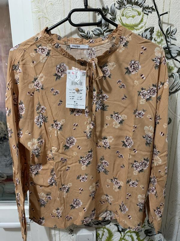 Блузка з v-подібним викотом, рубашка - Фото 5