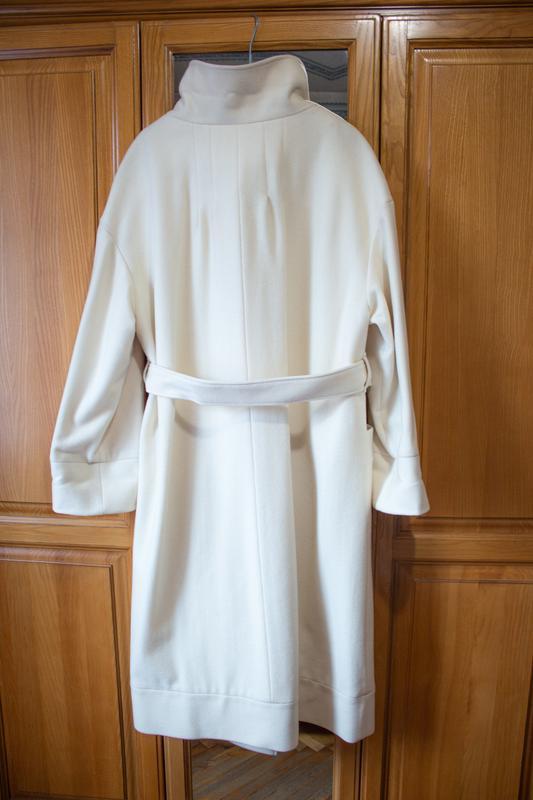 Пальто белое бежевое арбер - Фото 2