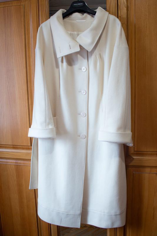 Пальто белое бежевое арбер - Фото 3