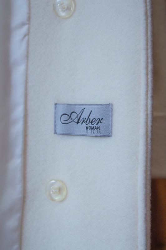 Пальто белое бежевое арбер - Фото 7