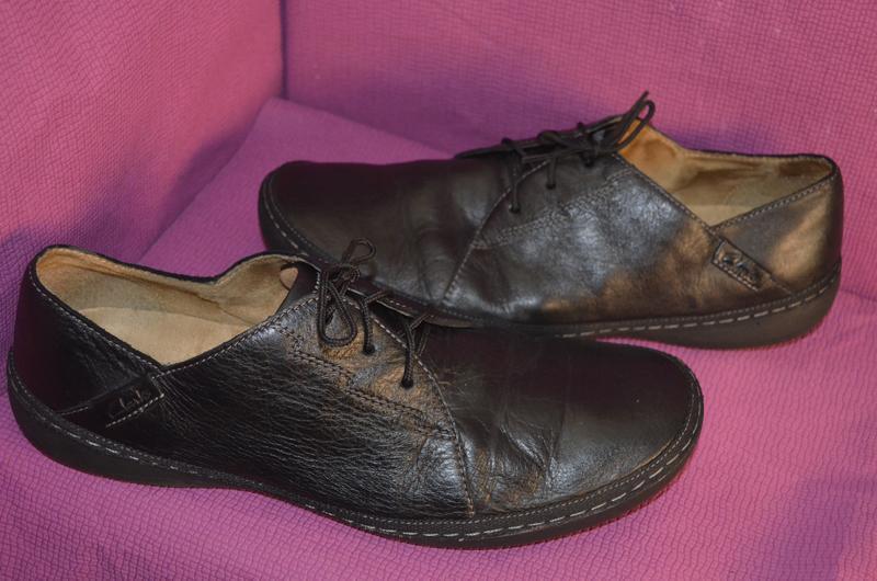 Добротные мужские кожаные туфли clarks