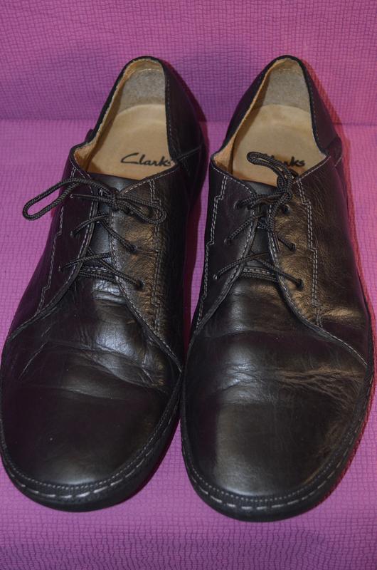 Добротные мужские кожаные туфли clarks - Фото 2