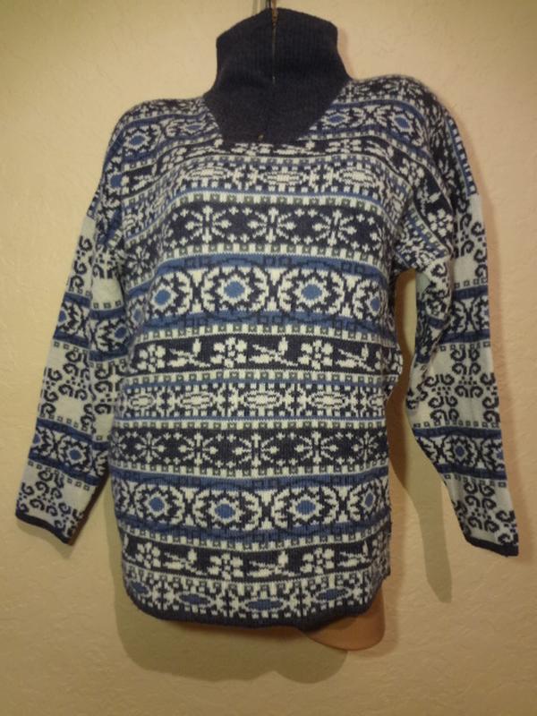 Супер теплый шерстяной свитер под шею lapagayo размер м l