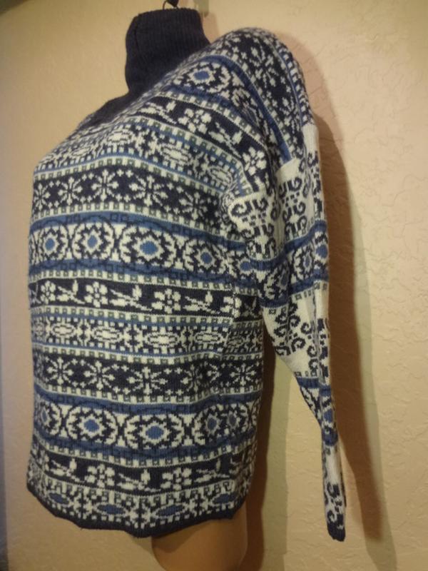 Супер теплый шерстяной свитер под шею lapagayo размер м l - Фото 4