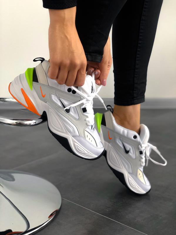 Мужские кроссовки Nike M2K Tekno Pure Platinum Black-Sail White - Фото 2
