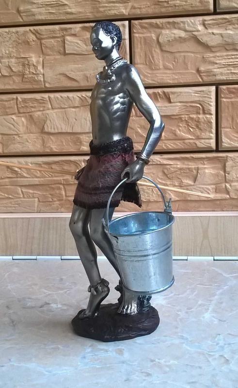 Статуэтка Негр - рыбак