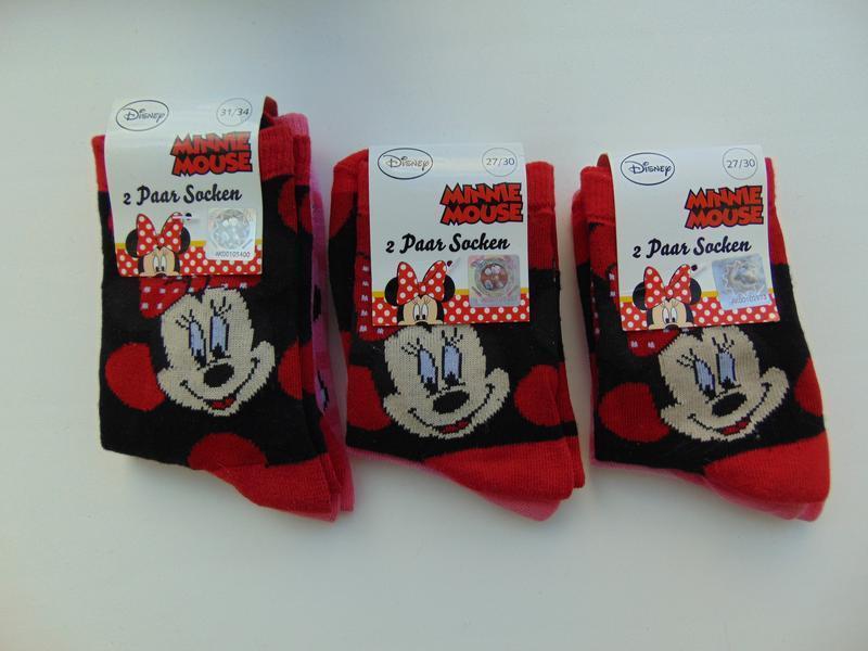 Набор носков 2 пары disney minni mouse для девочки германия 27...