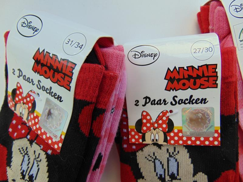 Набор носков 2 пары disney minni mouse для девочки германия 27... - Фото 4
