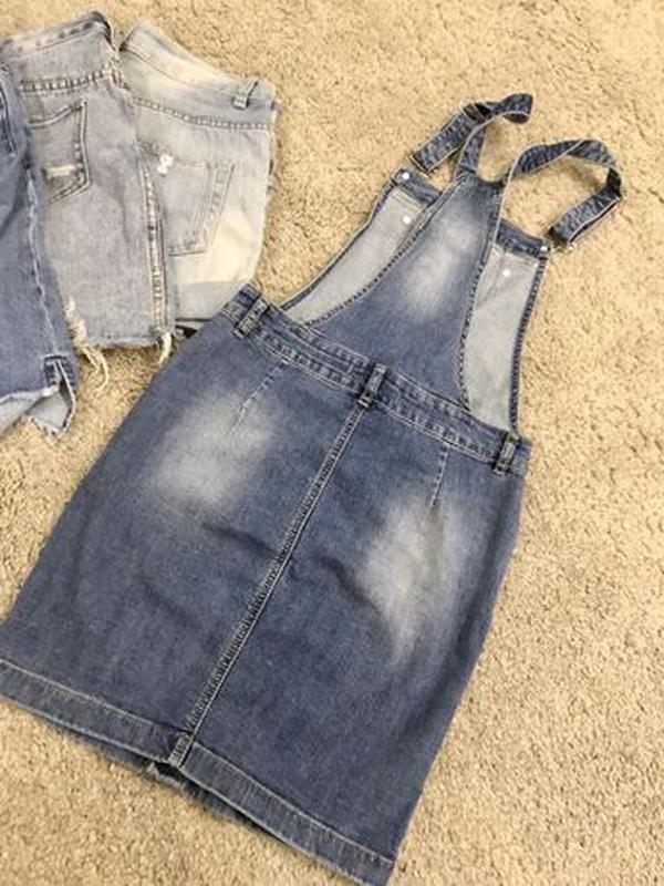 Комбинезон джинсовый юбка - Фото 4