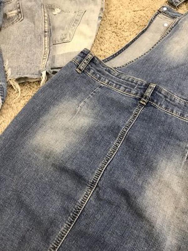 Комбинезон джинсовый юбка - Фото 5