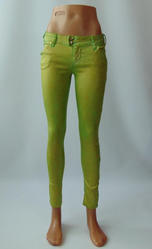 Зеленые укороченные брюки  xtsy 40 р. италия