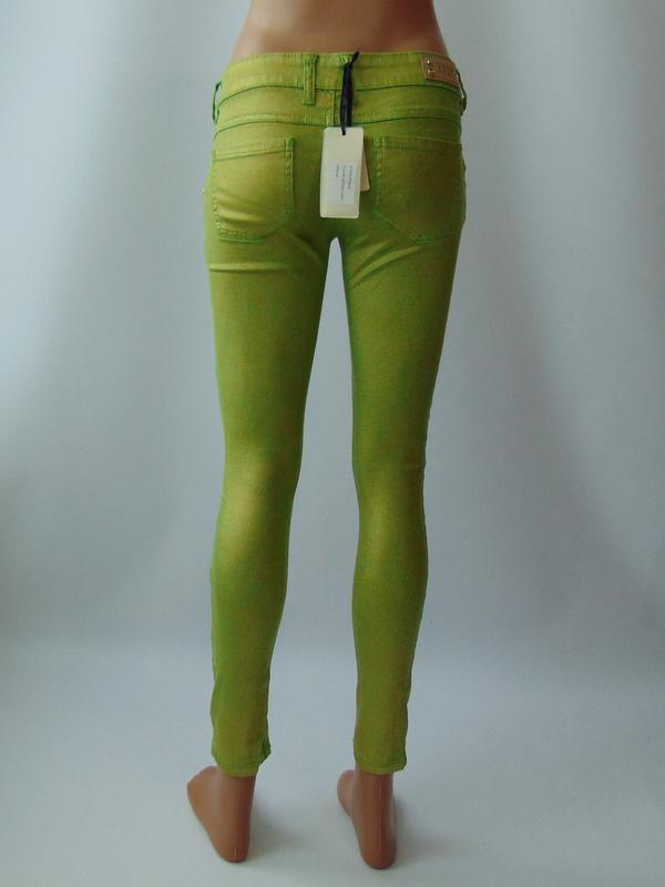 Зеленые укороченные брюки  xtsy 40 р. италия - Фото 2