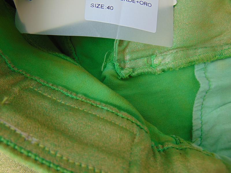 Зеленые укороченные брюки  xtsy 40 р. италия - Фото 5