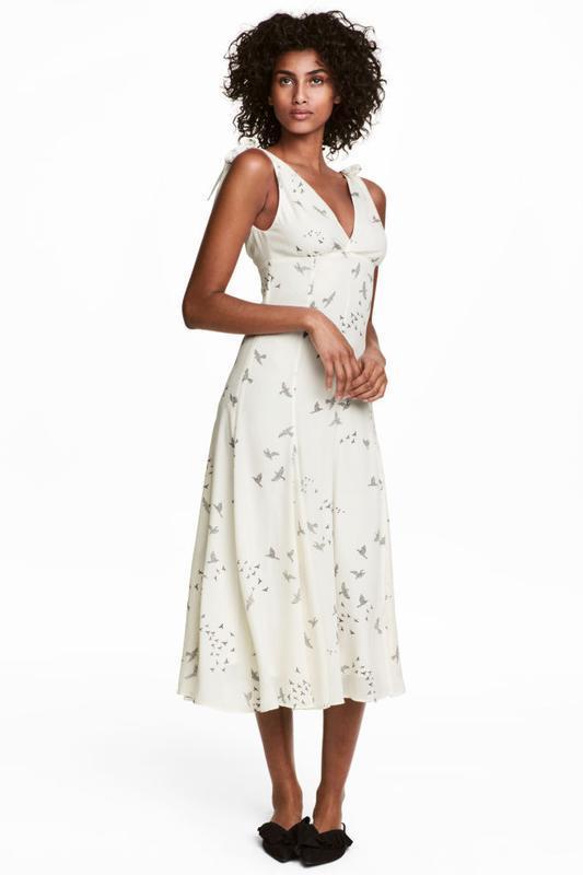 Платье с треугольным вырезом h&m