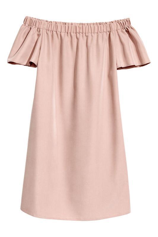 Платье с открытыми плечами h&m - Фото 2