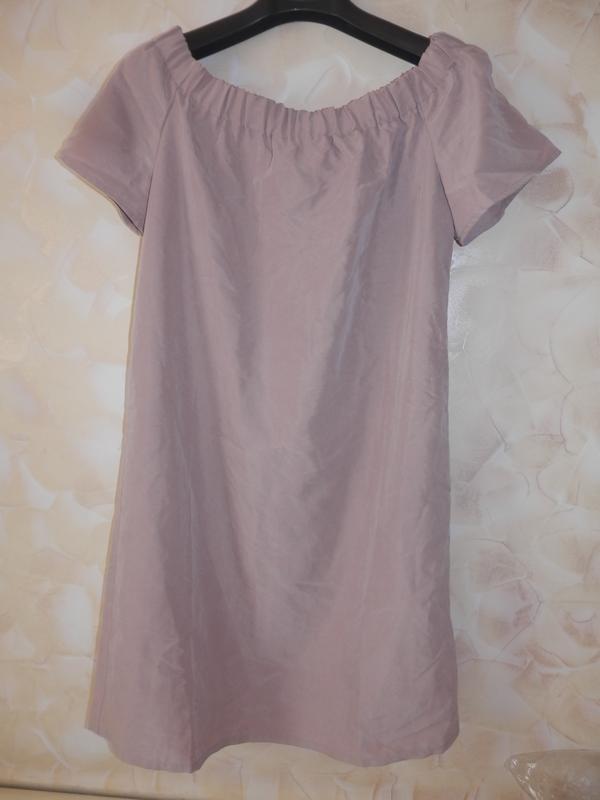 Платье с открытыми плечами h&m - Фото 4