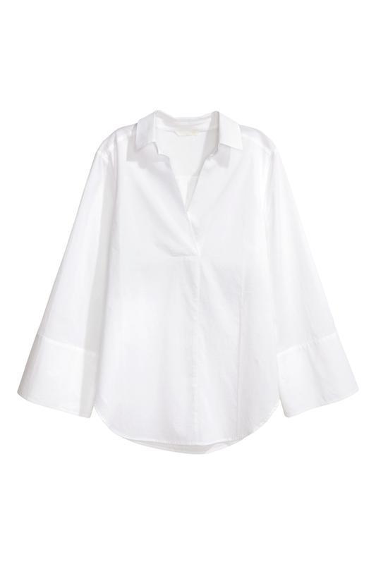 Блуза рубашка хлопок h&m - Фото 2