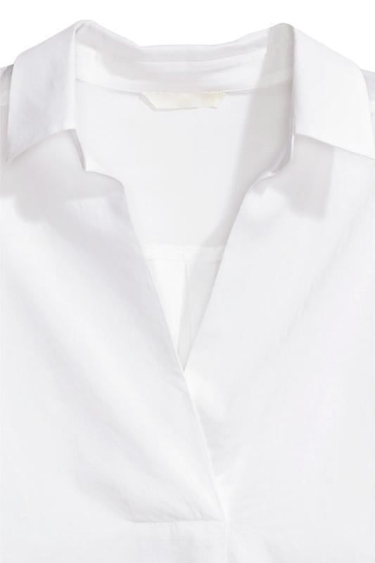 Блуза рубашка хлопок h&m - Фото 4
