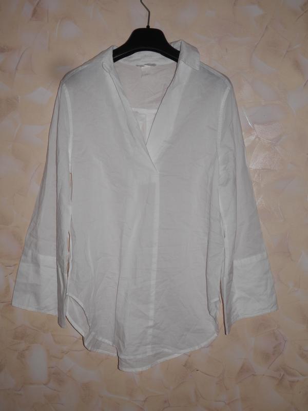 Блуза рубашка хлопок h&m - Фото 5