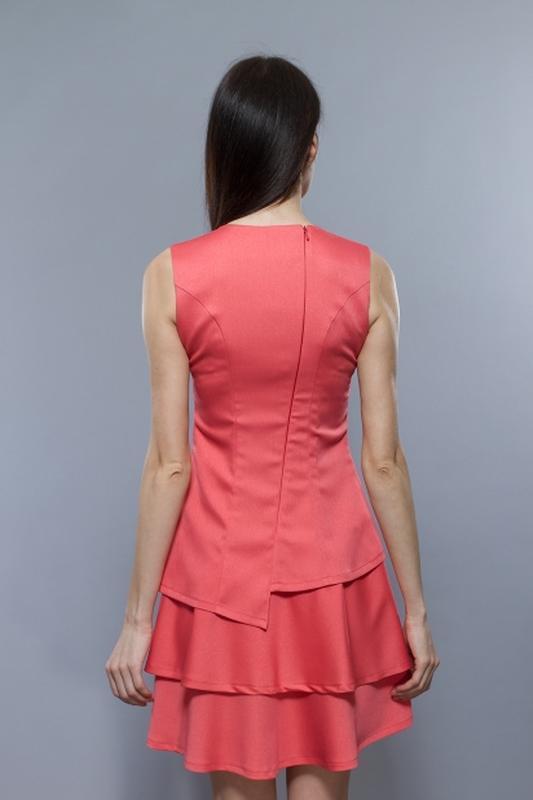 Расклешенное платье от bgl кораллового цвета - Фото 5