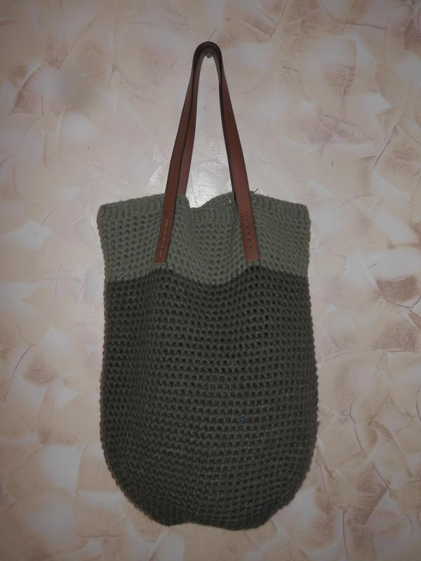 Вязанная сумка от benetton - Фото 2