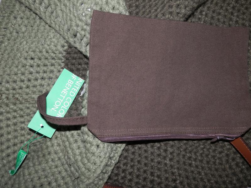 Вязанная сумка от benetton - Фото 3